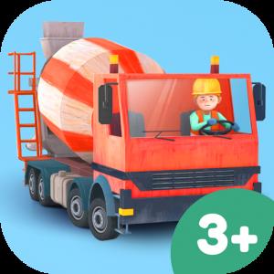 Kleine Bauarbeiter Kinder 3D App – Baustellen-Spiel für Kinder ab 3 Jahren