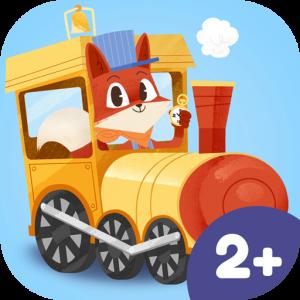 Kleiner Fuchs Eisenbahn Kinder App – lustiges Zug-Spiel für Kinder ab 2 Jahren