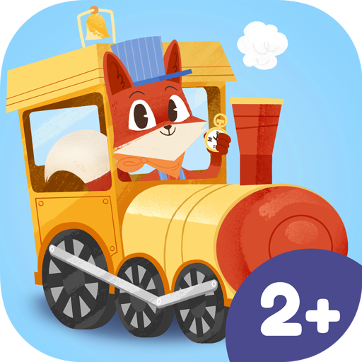 App Icon Little Fox Train Adventures – lovely steam engine app for kids