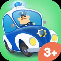 Kleine Polizei Kinder Abenteuer Spiele App – fahre verschiedene Polizeiautos