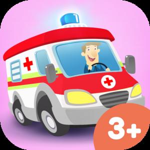 Kleines Krankenhaus Kinder-Spiele-App – Fahre den Rettungswagen und kümmere dich um Patienten