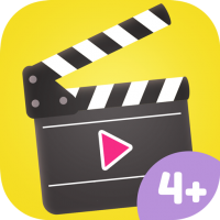 Kreative Filmstudio App für Kinder – wähle Figuren, Hintergründe, Effekte und mehr