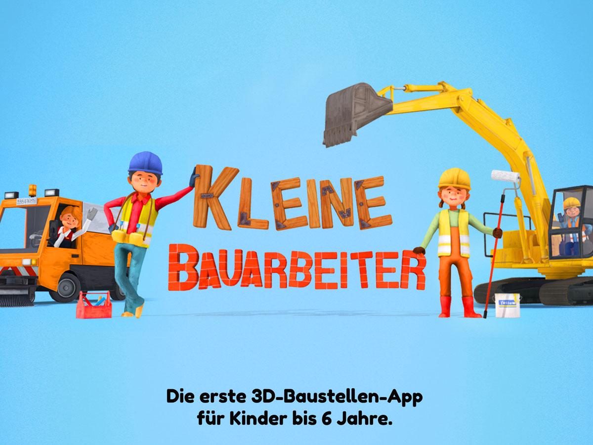 Kleine Bauarbeiter 3D Kinder App – Baustellen-Spiel für Kinder bis 6 Jahre