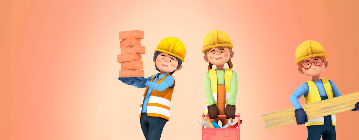 Little Builders Construction Game for Kids in 3D for iOS and Android