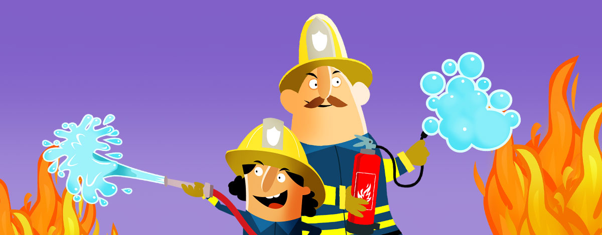 Little Fire Station mobile game for children – extinguish fire