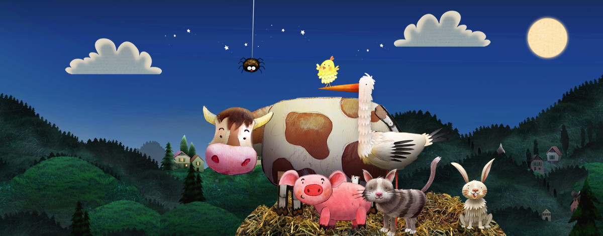 Nighty Night App for toddlers – turn off the lights and put the animals to bed