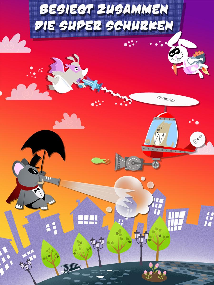 Rhino Hero Action Spiele App für Kinder – Besiegt zusammen die Super-Schurken