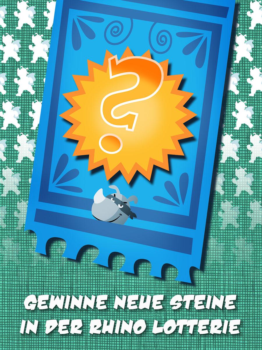 Rhino Hero Action Spiele App für Kinder – Gewinne neue Steine in der Lotterie