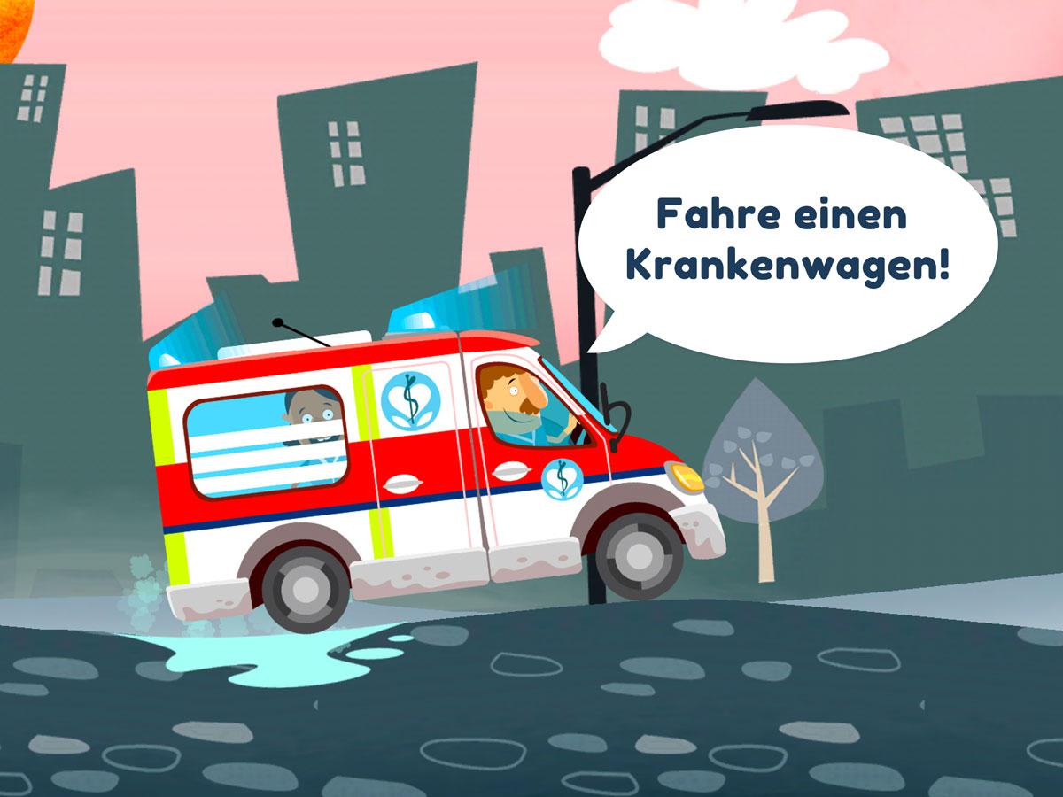 Kleines Krankenhaus Kinder App – Fahre den Krankenwagen