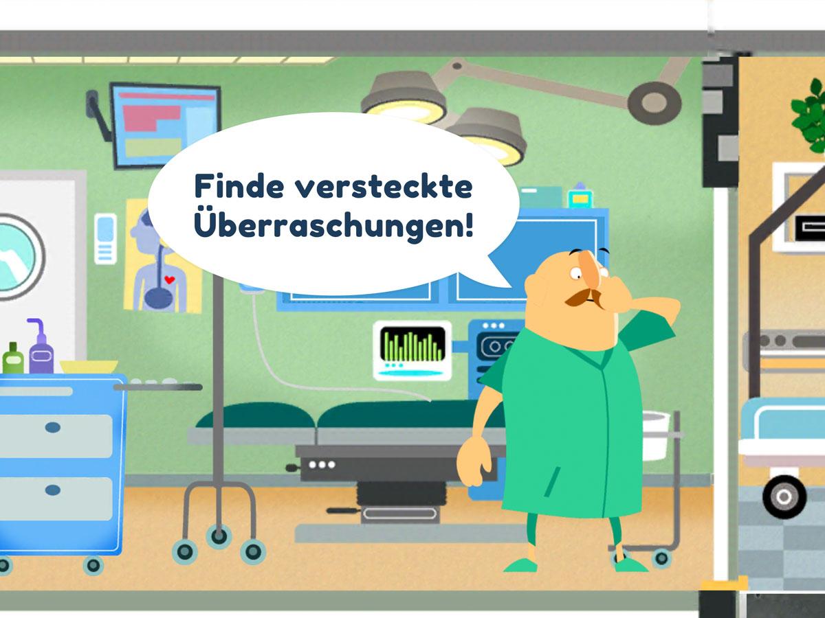 Kleines Krankenhaus Kinder App – Lustiges Suchspiel mit versteckten Überraschungen