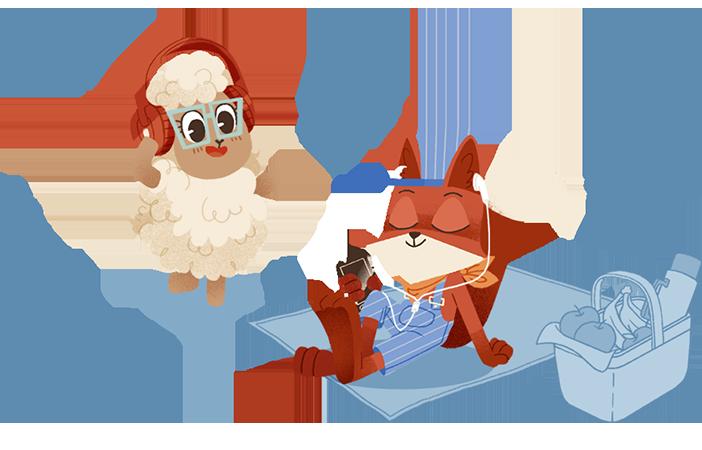 Fox & Sheep Audio – Audioproduktion von Hörspielen und Podcasts für Kinder