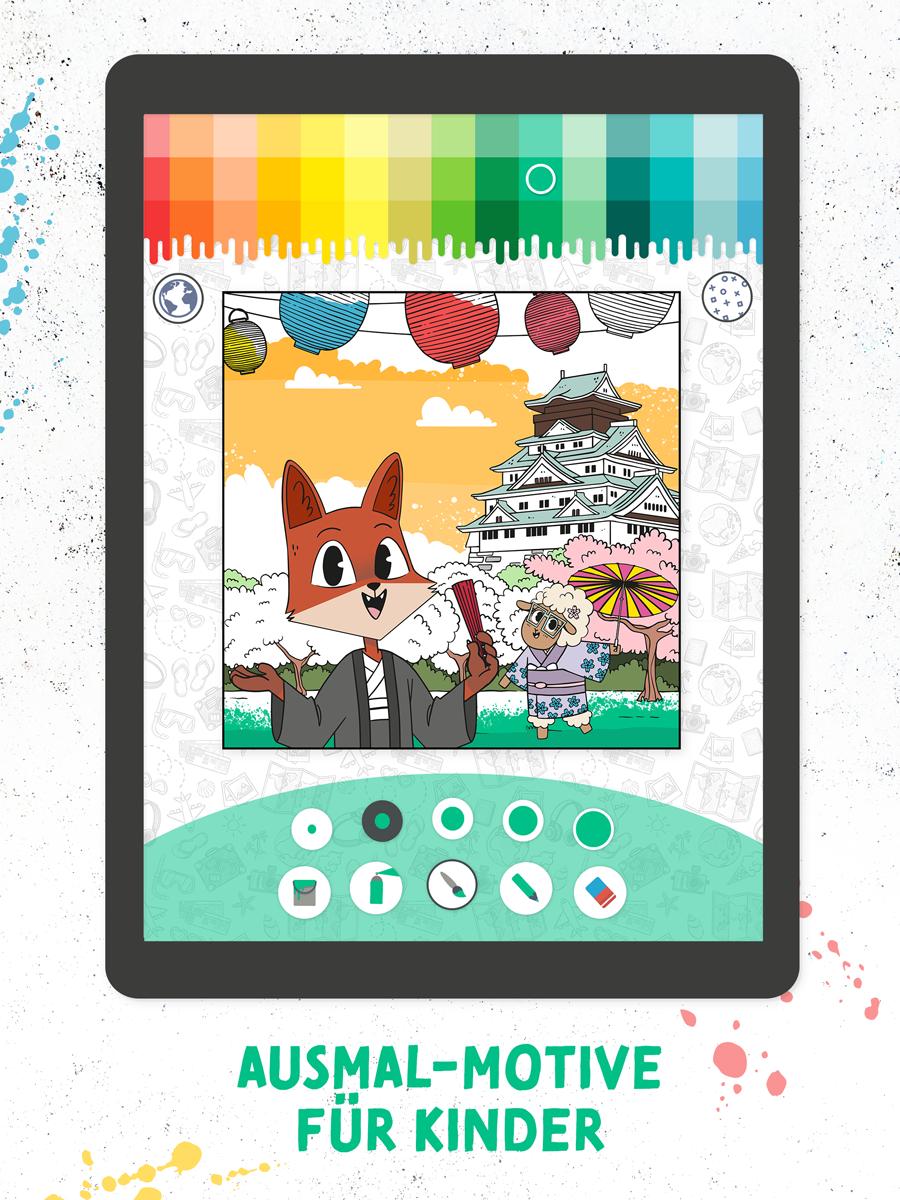 Ausmalen mit Fuchs & Schaf – Kinder App Screenshot 01