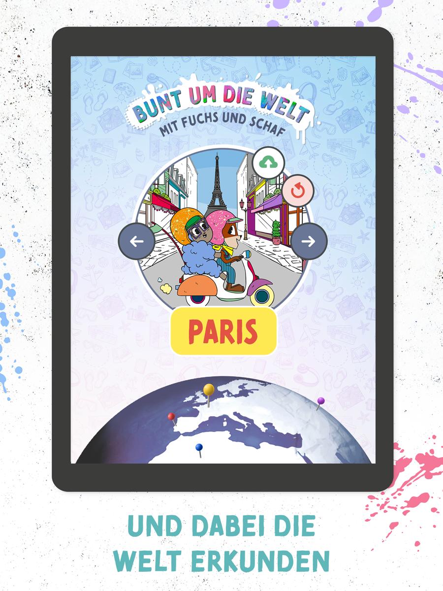 Ausmalen mit Fuchs & Schaf – Kinder App Screenshot 03