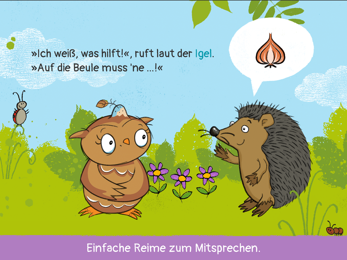 Kleine Eule App – einfache Reime für Kinder