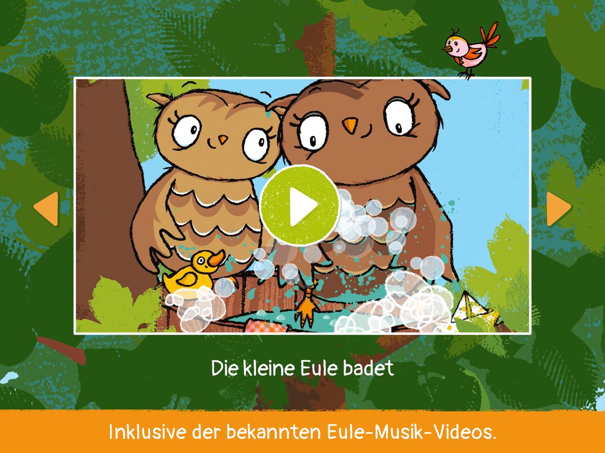 Kleine Eule App mit den beliebten Eule Musik Videos