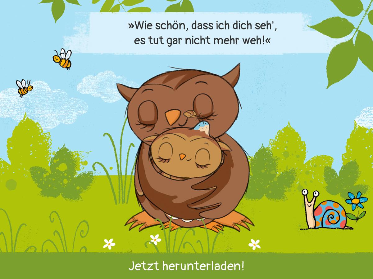 Kleine Eule App – Trost Geschichte für Kleinkinder