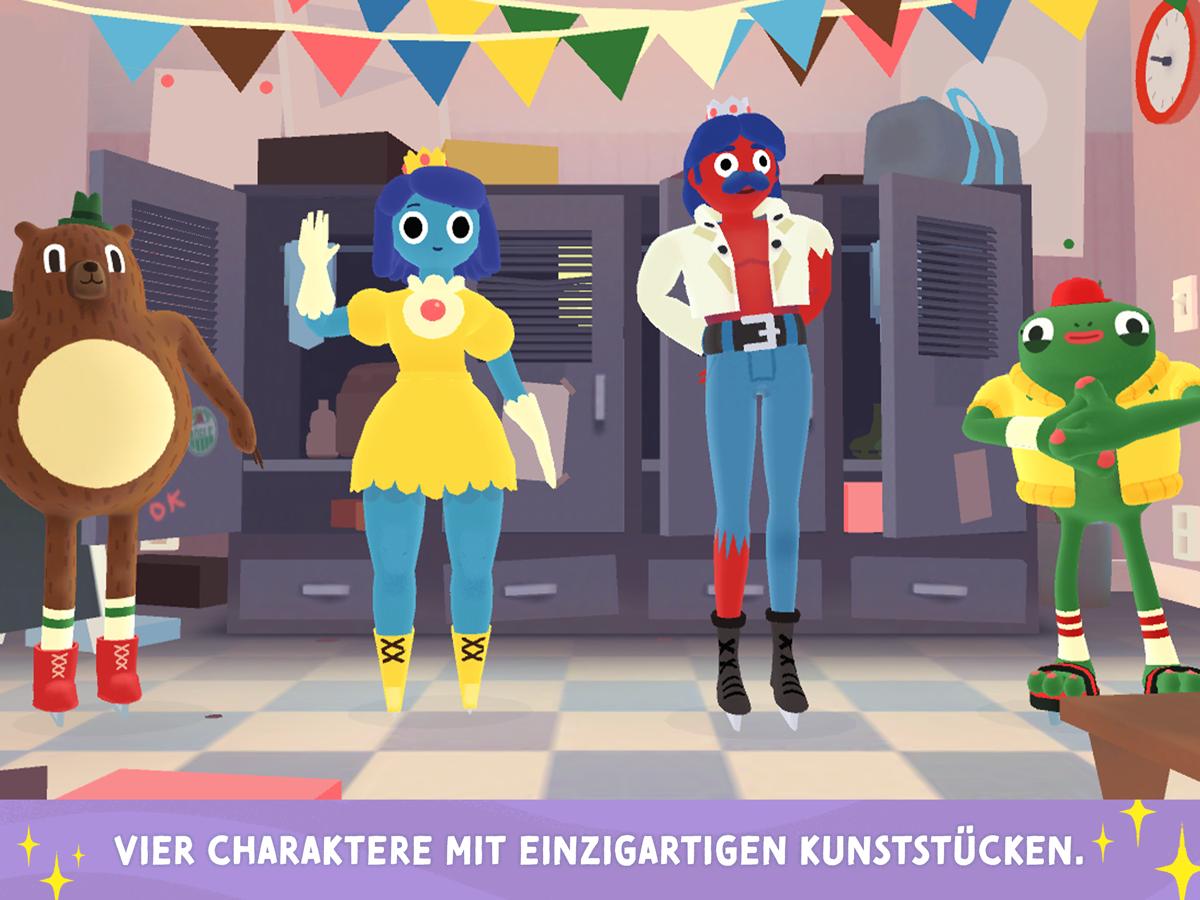 Nice Skating App für Kinder – Vier verschiedene Figuren mit einzigartigen Kunststücken