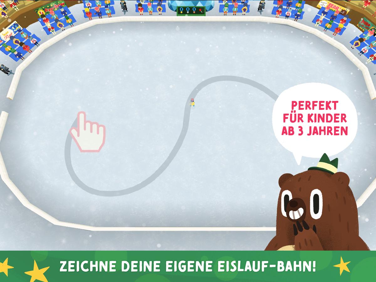 Nice Skating Kinder App – Zeichne deine Eislaufstrecke auf das Eis